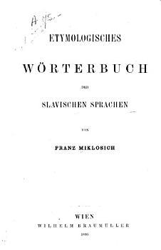 Etymologisches W  rterbuch der slavischen Sprachen PDF