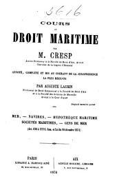 Cours de droit maritime: Volume1