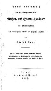 Grund- und Aufriß des christlich-germanischen Kirchen- und Staats-Gebäudes im Mittelalter