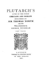 Plutarch's Lives of the Noble Grecians and Romans: Volume 1