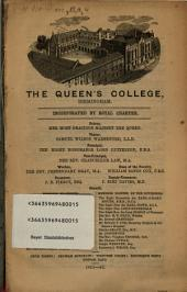 The Queen's College, Birmingham: 1851 - 52