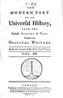 An Universal History  from the Earliest Account of Time PDF