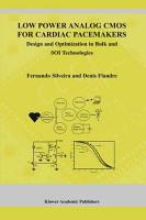 Low Power Analog CMOS for Cardiac Pacemakers PDF