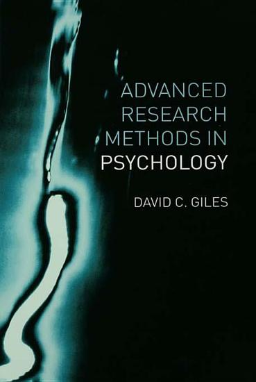 Advanced Research Methods in Psychology PDF