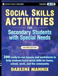 Social Skills Activities For Secondary Students With Special Needs Book PDF