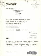 Terrestrial Environment  climatic  Criteria Guidelines for Use in Space Vehicle Development  1969 Revision PDF