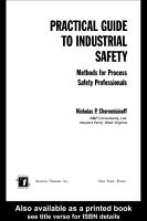 Practical Guide to Industrial Safety PDF