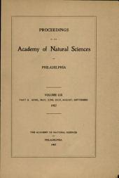 Proceedings of The Academy of Natural Sciences (Vol. LIX, Part II -- April-Sept., 1907)