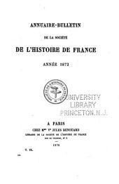 Annuaire-bulletin de la Société de l'histoire de France: Volume161