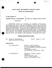 Johnson Pacific, Incorporated: Environmental Protection Agency Initial Decision and Order