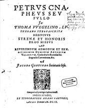 Petrus Cnapheus seu Fullo in Thoma Wegelino, Lutherano Theopaschita, redivivus