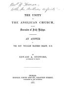 The Unity of the Anglican Church  and the Succession of Irish Bishops PDF