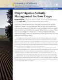 Drip Irrigation Salinity Management for Row Crops