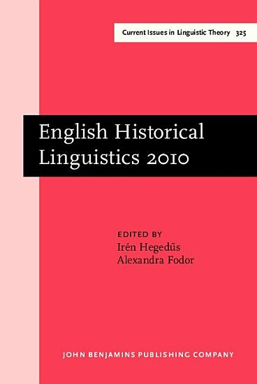 English Historical Linguistics 2010 PDF