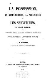 Les obligations en droit romain: cours professé à l'université de Gand, Volume4
