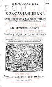 Philosophiae ad mentem Scoti cursus integer