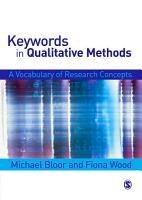 Keywords in Qualitative Methods PDF