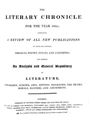 The Literary chronicle and weekly review PDF