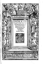 Omnia Opera: Index In Tomos Omnes Opervm Diui Hieronymi. 10