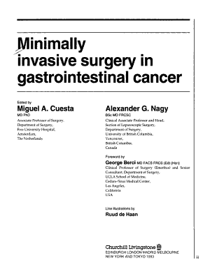 Minimally Invasive Surgery in Gastrointestinal Cancer