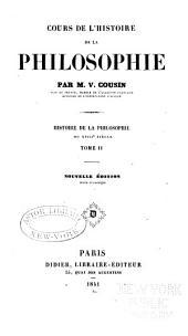 Cours de l'histoire de la philosophie: Volume2