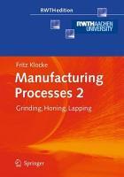 Manufacturing Processes 2 PDF