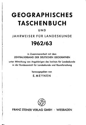 Geographisches Taschenbuch PDF