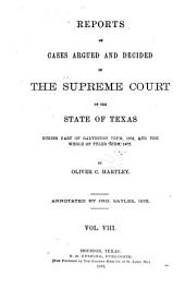 The Texas Reports: Cases Adjudged in the Supreme Court, Volume 8