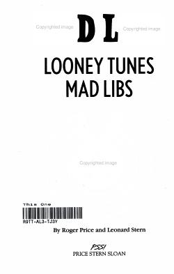 Looney Tunes Mad Libs PDF