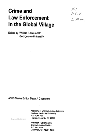 Crime and Law Enforcement in the Global Village PDF