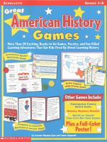 Great American History Games PDF