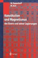 Konstitution und Magnetismus PDF