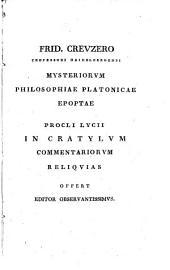 Ek tōn Proklou scholiōn eis Platōnos Kratulon eklogai: Volume 1
