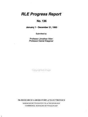 RLE Progress Report PDF
