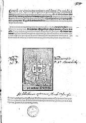 Centu[m] ac quinquaginta psalmi Dauidici0