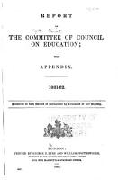 Report of the Committee of Council on Education PDF
