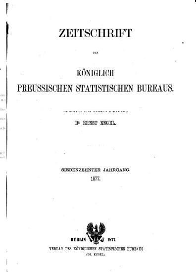 Zeitschrift des K  niglich Preussischen Statistischen Bureaus PDF