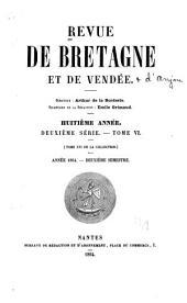 Revue de Bretagne, de Vendée & d'Anjou: Volume2;Volume6