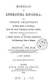 Modelos de literatura española