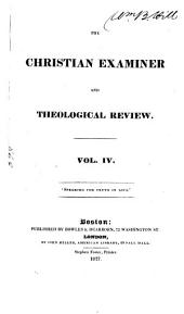 The Christian Examiner and Theological Review: Volume 4