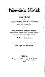Die Topik des Aristoteles PDF