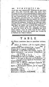 Théatre complet de Mr. de Voltaire: Contenant Adelaïde du Guesclin ; le Duc de Foix ; l'Orphelin de la Chine ; Tancrede ; Zulime ; Olimpe : avec toutes les piéces rélatives à ces drames
