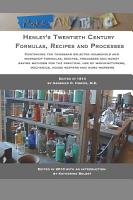 Henley s Twentieth Century Formulas  Recipes and Processes PDF