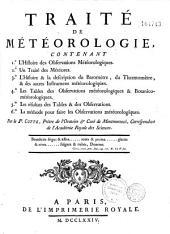 Traité de météorologie...