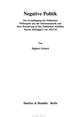 Negative Politik PDF