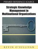 Strategic Knowledge Management in Multinational Organizations PDF