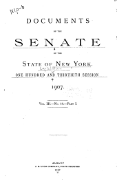 Documents of the Senate of the State of New York: Volume 3
