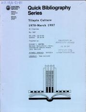 Tilapia Culture  1970 March 1987 PDF