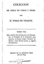 Coleccion de obras en verso y prosa: Volumen 7