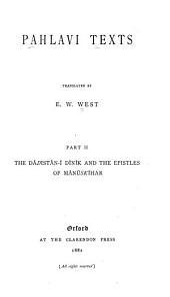 Pahlavi Texts: Part 2